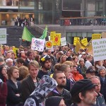 Demonstration against nuclear power in Sweden